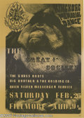 Music Memorabilia:Posters, Great Society King Kong Memorial Dance Fillmore Poster #FD2-2(Second Printing), 2/26/66 (Family Dog, 1966). The second in t...