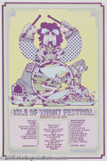 Music Memorabilia:Posters, Isle of Wight Poster (1970). This British music festival rivals theoriginal Woodstock for its legendary status. Featuring a...