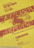 Music Memorabilia:Posters, Jefferson Airplane Fillmore Auditorium Poster #BG1-3 (ThirdPrinting) 2/4-6/66 (Creative Litho/Bill Graham, 1966). This is a...