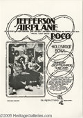 Music Memorabilia:Posters, Jefferson Airplane Hollywood Bowl Poster (FM Productions, 1972). Avery cool poster promoting San Francisco legendary band J...