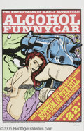 "Music Memorabilia:Posters, Frank Kozik - Alcohol Funnycar Signed Poster (Wackyland Pacific,1994). From San Francisco's own ""Bottom of the Hill"" comes ..."