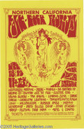 Music Memorabilia:Posters, Northern California Folk Rock Festival Handbill (Bob Blodgett,1968). What a line-up! For two days in 1968 the city of Santa...