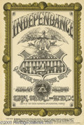 """Music Memorabilia:Posters, Quicksilver Messenger Service Avalon Ballroom Poster #FD69 7-4-67(Family Dog, 1967). The """"Independence Day"""" poster, designe..."""