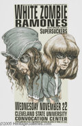 Music Memorabilia:Posters, Ramones Concert Poster. This poster for the Ramones' November 22,1995 performance at the Cleveland State University Convoca...