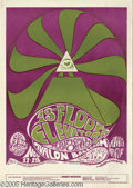 "Music Memorabilia:Photos, 13th Floor Elevators Poster #FD34, 11/11-12/66 (BindweedPress/Family Dog, 1966). One of the ""trippier"" posters that theFam..."