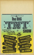 "Music Memorabilia:Posters, Big TNT Show Window Card (American International, 1965). Fantastic""split fountain"" style poster for one of the great Rock a..."