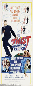 "Music Memorabilia:Posters, ""Twist Around the Clock"" Movie Insert Poster. The Twist was all therage in the early '60s, and so were movies about said da..."