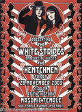 Music Memorabilia:Posters, The White Stripes Posters, Group of 2 (idealposters.com, 2003). Abeautiful pair of posters promoting The White Stripes play... (2items)