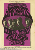 """Music Memorabilia:Posters, Yardbirds Fillmore Poster BG33 10/23/66 (West Coast Litho/BillGraham, 1966). From the """"One Sunday Afternoon"""" tour comes thi..."""