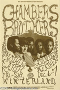 Music Memorabilia:Posters, Chambers Brothers Handbill (Tea Lautrec Litho, 1968). A reallytough to find handbill! For some reason, Bill Graham never ma...