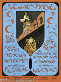 "Music Memorabilia:Posters, Grateful Dead ""New Year's Eve"" Winterland Handbill (TeaLautrec/Bill Graham, 1970). Just like its poster counterpart, theha..."