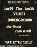Music Memorabilia:Ephemera, Velvet Underground Electric Circus Handbill (Electric Circus, 1971). This particular version of the Velvet Underground featu...