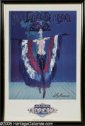 Hollywood Memorabilia:Autographs and Signed Items, Leroy Neiman Signed Les Folies Bergere Poster (1986). Leroy Neiman is perhaps the most well known painter and print maker in...