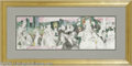 """Memorabilia:Miscellaneous, Leroy Neiman """"Polo Lounge"""" Off-set Print, Signed (1989). Leroy Neiman has captured the Hollywood fete set in this colorful t..."""