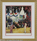 "Hollywood Memorabilia:Autographs and Signed Items, Leroy Neiman ""The President's Birthday Party"" Print, Signed (1986). Leroy Neiman pays his homage to the famous 1962 birthday..."