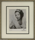 Memorabilia:Miscellaneous, Legendary Jazz Singer Billie Holiday Signed Photo (1915-1959) Billie Holiday changed the art of American pop vocals forever....