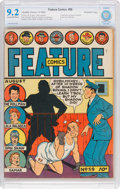 Golden Age (1938-1955):Miscellaneous, Feature Comics #59 Rockford Pediree (Quality, 1942) CBCS NM- 9.2 Cream to off-white pages....