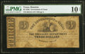 Houston, TX- Government of Texas $3 May 1, 1838 Cr. H15A Medlar 57 PMG Very Good 10 Net