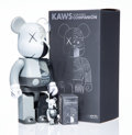 General Americana, KAWS X BE@RBRICK. Dissected Companion 400% and 100%(Grey) (two works), 2010. Painted cast vinyl. 10-3/4 x 5 x3-1/2... (Total: 2 Items)