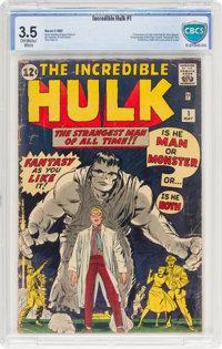The Incredible Hulk #1 (Marvel, 1962) CBCS VG- 3.5 Off-white to white pages