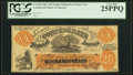 Confederate Notes:1861 Issues, CT-XX1/C1 $20 1861 Female Riding Deer Bogus Note PCGS Very Fine 25PPQ.. ...