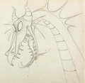 Animation Art:Production Drawing, Sleeping Beauty Dragon Animation Drawing (Walt Disney, 1959)....