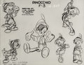 animation art:Model Sheet, Pinocchio Studio Model Sheet (Walt Disney, 1940). ...