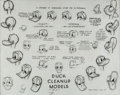 animation art:Model Sheet, Donald Duck Cleanup Model Sheet (Walt Disney Studio, 1941). ...
