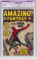 Silver Age (1956-1969):Superhero, Amazing Fantasy #15 (Marvel, 1962) CGC Apparent VG/FN 5.0 Slight(A) Cream to off-white pages....