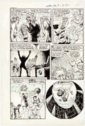 Original Comic Art:Panel Pages, Bob Powell Witches Tales #6 Story Page 3 Original Art(Harvey, 1951)....