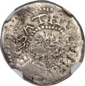 1652 3PENCE Oak Tree Threepence, No IN on Obverse -- Damaged -- NGC Details. VF. Noe-28.5, W-310, Salmon 6-B, R.7....(PC...