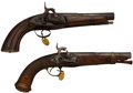Handguns:Muzzle loading, Lot of Two Spanish Conversion Percussion Pistols.... (Total: 2 Items)
