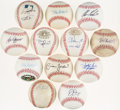 Autographs:Baseballs, St. Louis Cardinals Signed Baseball Lot of 12.... (Total: 12 items)