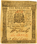 Colonial Notes:Pennsylvania, Pennsylvania April 25, 1776 10 Shillings Fr. PA-205. PCGS ChoiceNew 63 Apparent.. ...