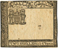 "Colonial Notes:Virginia, Virginia July 17, 1775 2 Shillings 6 Pence Small Ordinance ""Test"" or Essay Proof Fr. VA-72a. PCGS Choice New 63PPQ.. ..."