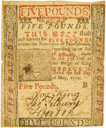 Colonial Notes:Pennsylvania, Pennsylvania May 1, 1760 5 Pounds Fr. PA-114. PCGS Very Fine 30 Apparent.. ...