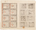 Colonial Notes:Continental Congress Issues, Continental Currency January 14, 1779 Uncut Double Sheet of$65-$60-$55-$50/$45-$40-$35-$30 Issued Notes Fr. CC-100 to 93.PCG...