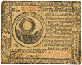 Colonial Notes:Continental Congress Issues, Continental Currency. July 22, 1776 $30 Newman 3.1 ContemporaryCounterfeit Fr. CC-46CF. PCGS Very Fine 30.. ...