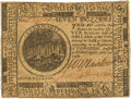 Colonial Notes:Continental Congress Issues, Continental Currency. July 22, 1776 $7 Newman 1.2 Contemporary Counterfeit Fr. CC-44CF. PCGS About New 50. . ...