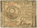 Colonial Notes:Continental Congress Issues, Continental Currency. February 26, 1777 $30 Newman 1.1 ContemporaryCounterfeit Fr. CC-62CF. PCGS Choice New 63PPQ. . ...