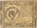 Colonial Notes:Continental Congress Issues, Continental Currency. May 20, 1777 $8 Newman 1.2 Contemporary Counterfeit Fr. CC-69CF. PCGS Choice About New 58.. ...