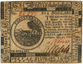 Colonial Notes:Continental Congress Issues, Continental Currency. May 20, 1777 $6 Newman 1.2 Contemporary Counterfeit Fr. CC-67CF. PCGS Choice About New 58. . ...