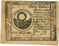 Colonial Notes:Continental Congress Issues, Continental Currency. May 20, 1777 dated July 2, 1777 $30 Newman 1.1 Contemporary Counterfeit Fr. CC-70CF. PCGS About New 50 A...