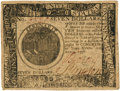 Colonial Notes:Continental Congress Issues, Continental Currency. April 11, 1778 Yorktown Issue $7 Newman 1.1 Contemporary Counterfeit Fr. CC-74CF. PCGS About New 53PPQ. ...