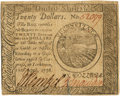 Colonial Notes:Continental Congress Issues, Continental Currency. April 11, 1778 Yorktown Issue $20 Newman 1.1 Contemporary Counterfeit Fr. CC-76CF. PCGS Extremely Fine 4...