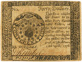 Colonial Notes:Continental Congress Issues, Continental Currency. April 11, 1778 Yorktown Issue $40 Newman 1.1Contemporary Counterfeit Fr. CC-78CF. PCGS About New 53....
