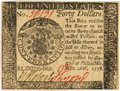 Colonial Notes:Continental Congress Issues, Continental Currency. September 26, 1778 $40 Newman 1.2 Contemporary Counterfeit Fr. CC-84CF. PCGS Choice New 63PPQ. . ...