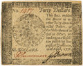 Colonial Notes:Continental Congress Issues, Continental Currency. April 11, 1778 Yorktown Issue $40 Newman 3.1 Contemporary Counterfeit Fr. CC-78CF. PCGS About New 53....