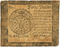 Colonial Notes:Continental Congress Issues, Continental Currency. April 11, 1778 Yorktown Issue Dated March 12, 1778 $40 Newman 1.1 Contemporary Counterfeit Fr. CC-78CF. ...