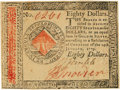 Colonial Notes:Continental Congress Issues, Continental Currency. January 14, 1779 $80 Newman 2.1 Contemporary Counterfeit Fr. CC-102CF. PCGS Extremely Fine 40.. ...
